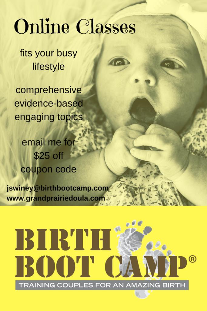online birth class dfw